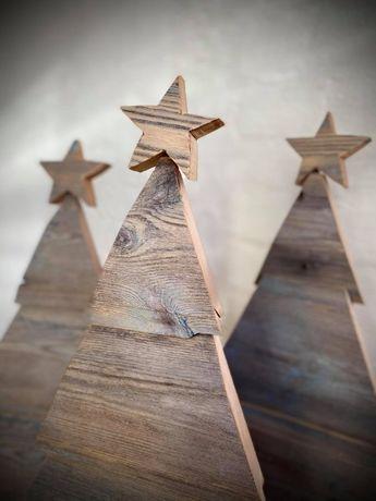 Świąteczna choinka Choinka drewniana Ozdoby świąteczne ok. 30x55 cm