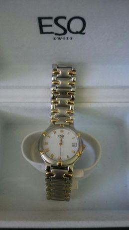 Zegarek szwajcarski ESQ SWISS - nierdzewny z wyświetlaczem daty nowy