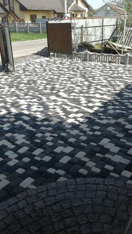 Тротуарная плитка от производителя Старый город Кирпичик Квадрат Волна