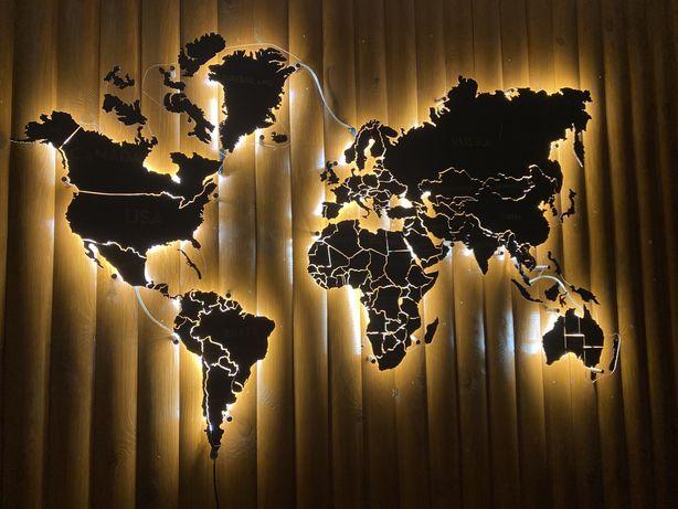 Карта мира с дерева Карта світу