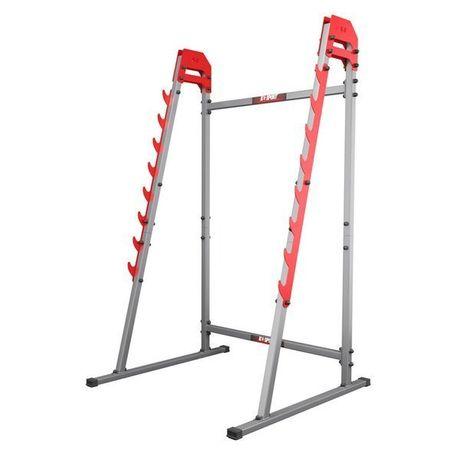 Stojaki treningowe do ćwiczeń pod sztangę ławkę z asekuracją