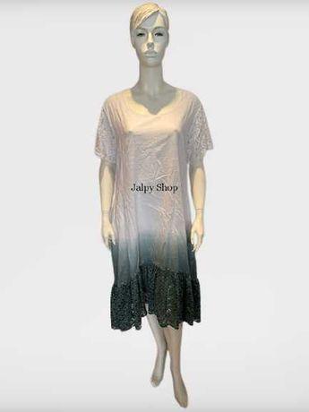 Vestido lindo Plus Size Em 100% Algodão