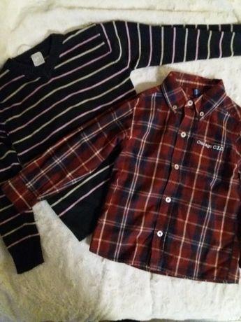 5.10.15 koszula 104,sweterek