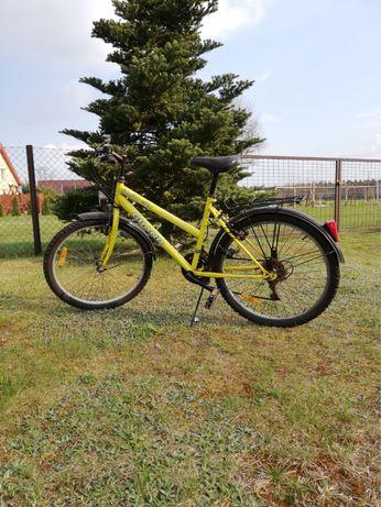 Żółty rower marki Kross