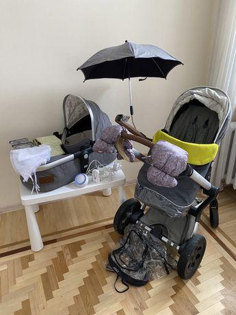 Joolz коляска + автокресло kiddy