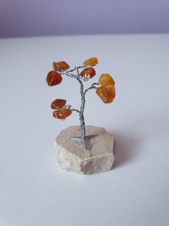 Drzewko szczęścia z bursztynami
