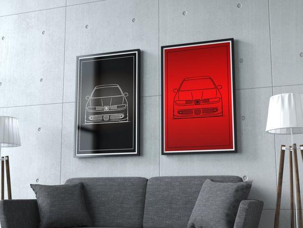 Plakaty VW golf MK1 MK2 CORRADO CABRIO GTI MK4 Audi BMW - duże