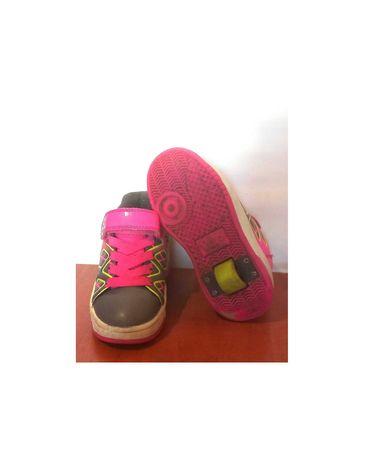 Роликовые кроссовки на колёсиках с кнопкой, от heelys, р.30 код w3001