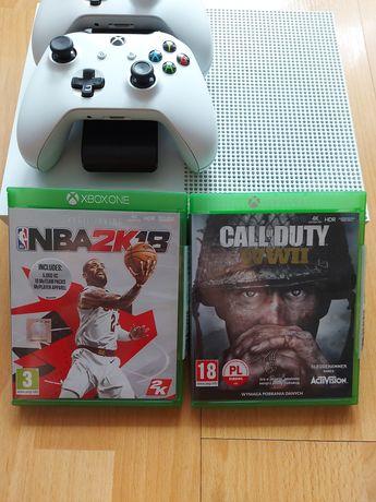 Konsola Xbox One S + dwa pady + dwie gry