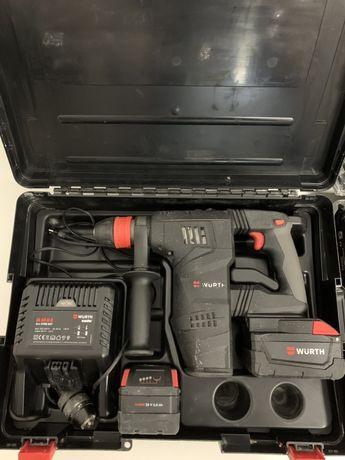 Аккумуляторный перфоратор Wurth H28-MAS аналог Milwaukee M28 CHPX