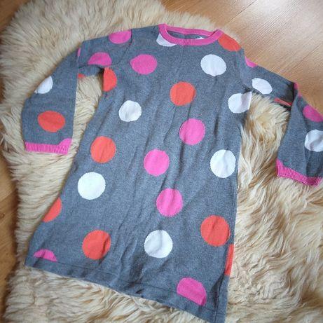 Sukienka tunika z dzianiny (sweter) Mothercare rozm. 110