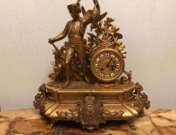 Антикварные каминные часы !!!