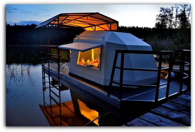 houseboat, domek na wodzie, platforma pływająca