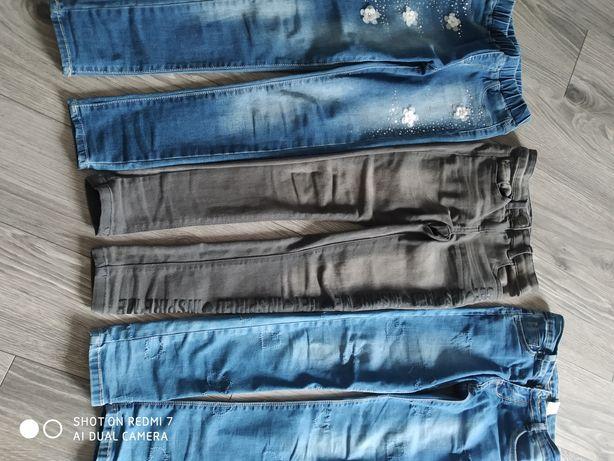Jeansy dla dziewczynki 134 140