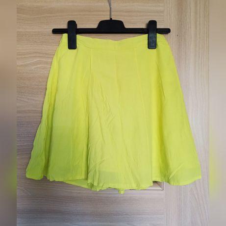 Spódnica żółta na lato