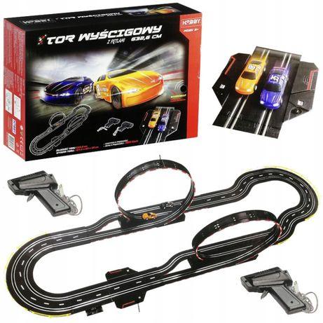 Tor Samochodowy Elektryczny 2 Pętle 2 Auta kontrolery