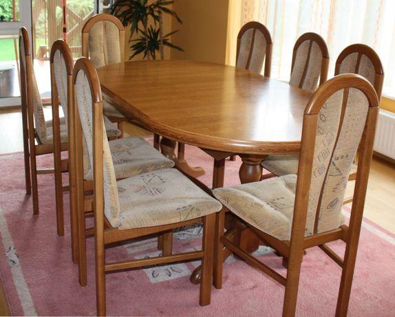 """Stół rozkładany owalny 8 krzeseł """"Glosar"""" Trax Przeworsk"""