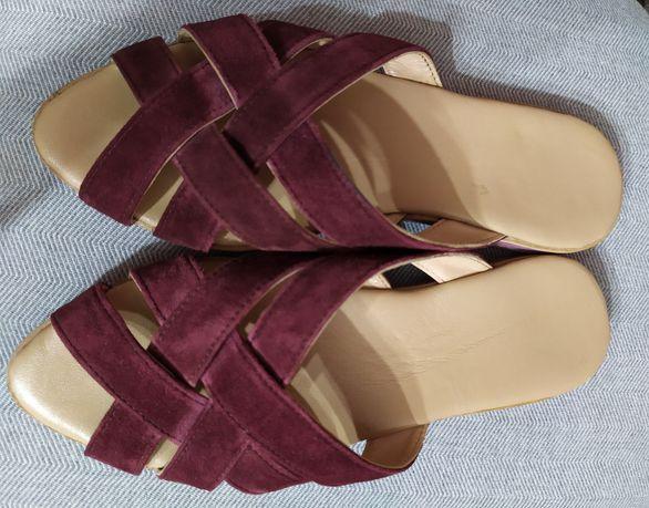 Новые шлёпанцы сабо кожаные 37р.