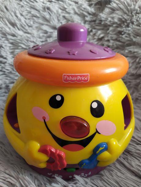 Garnuszek Fisher Price zabawka edukacyjna kształty cyfry