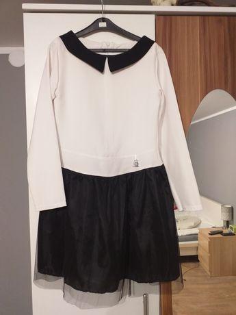Sukienka biało czarna ładna