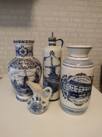 Zestaw porcelany Delft Holenderska