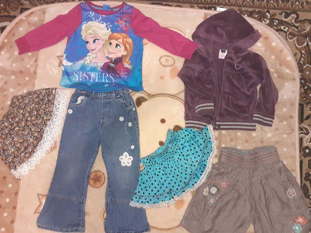Пакет,лот одягу для дівчинки 1-3роки+рюкзак