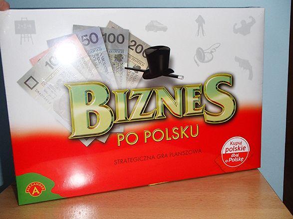 Gra planszowa Biznes po polsku NOWA zafoliowana wersja max