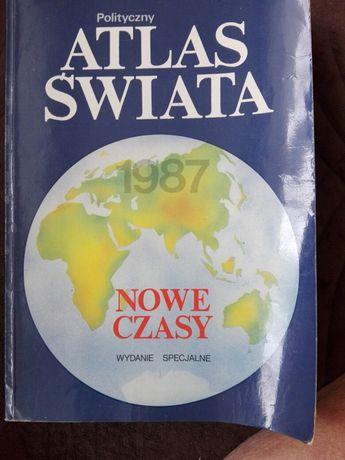 Polityczny atlas świata.