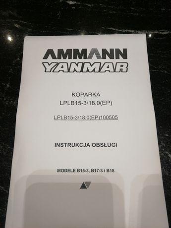 Dtr instrukcja obsługi yanmar minikoparka B15 b17 b18