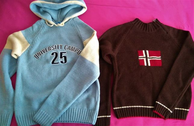 2 Camisolas de lã M menina/jovem NOVAS