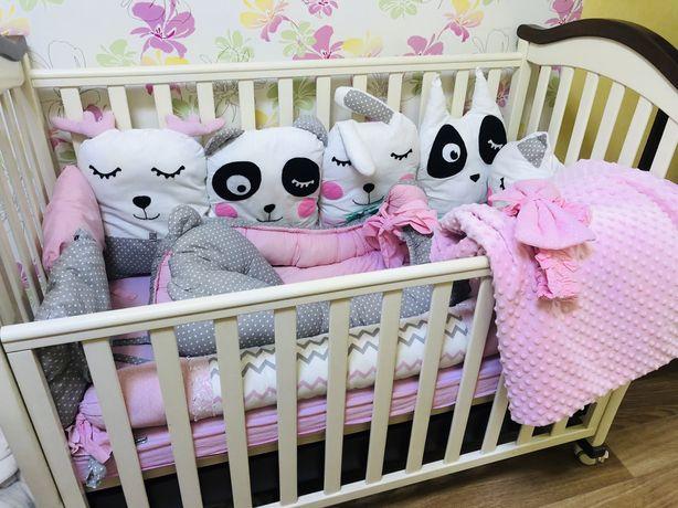 Бортики на кроватку гнездышко кокон постельное белье детское