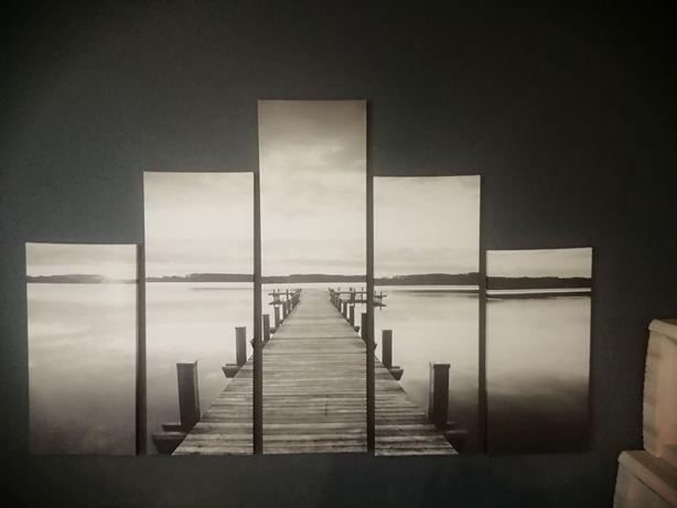 Obraz 5 elementów foto Pomost mega duży