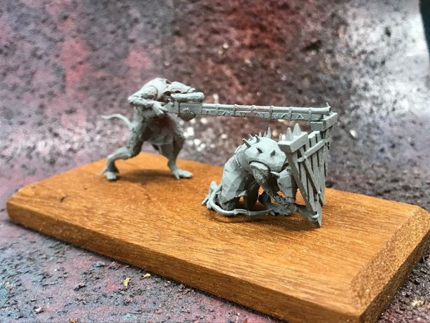 Figurka Skaven Warplock Jezzails Warhammer