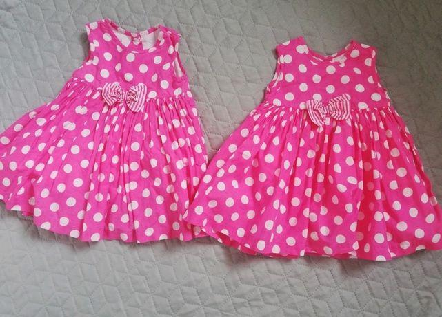 2 szt sukienki bliźniaczki 62-68 George