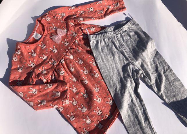 Костюм плаття лосінки зайчики Baby Club платье лосины на 86 см