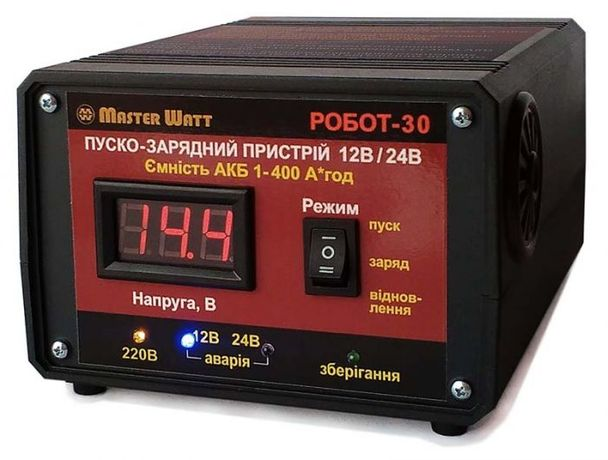 Пуско-зарядное устройство РОБОТ-30(60) 12/24В Master Watt