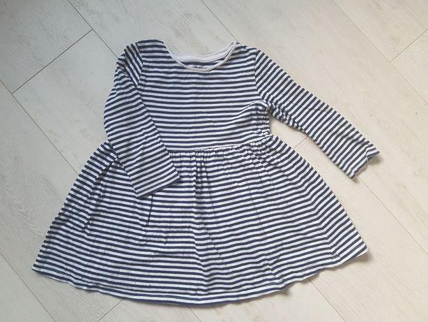Sukienka w paski rozmiar 98/104