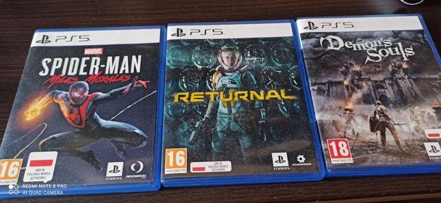 Returnal,Spider Man,Demons Souls Ps5
