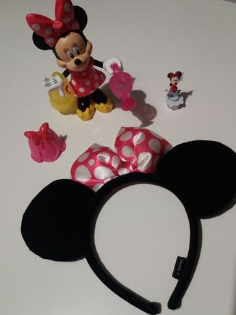 Myszka Minnie zestaw opaska i figurka