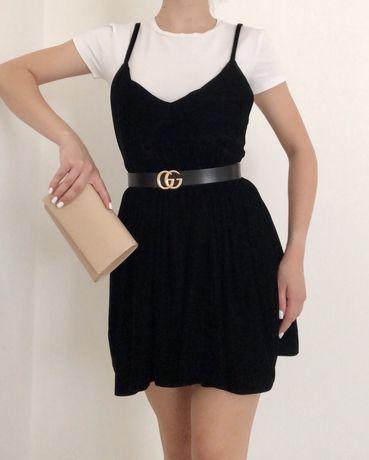 Плаття бархатне чорне