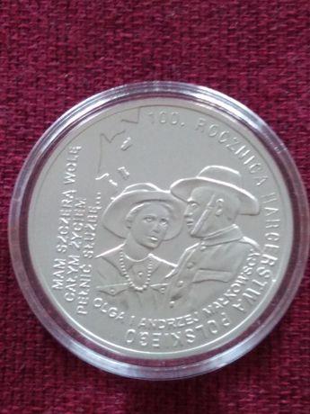 Moneta srebrna 10 zł 100.Rocznica Harcerstwa Polskiego