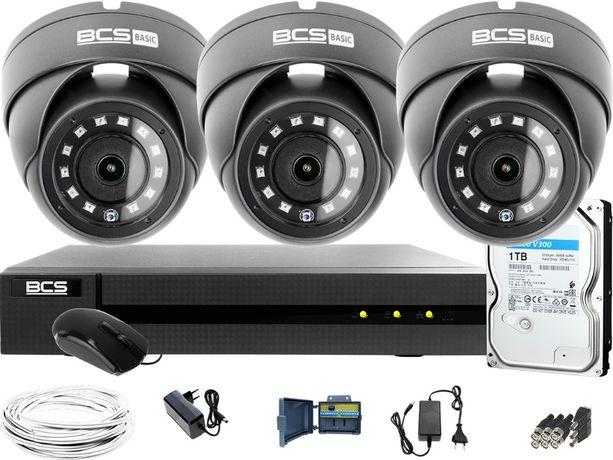 Monitoring analogowy na 3 kamery, grafit