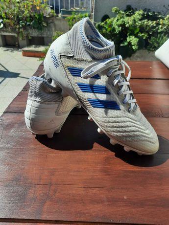 Adidas Predator 19.3 Brancas Azuis