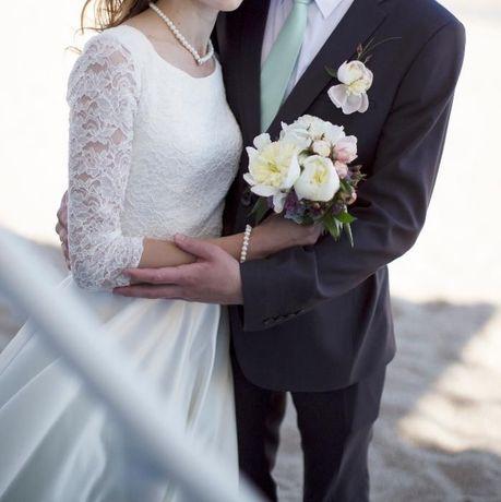 Свадебное платье 44-48. Ручной работы. Рост 168.