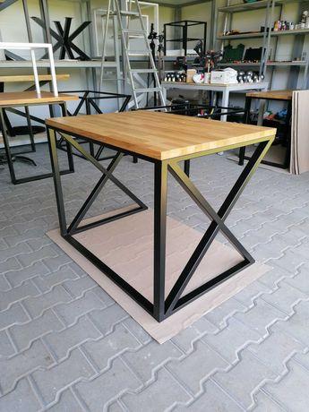 Biurko industrialne dębowe, loft, drewniane, lite drewno 70x 100x 74cm