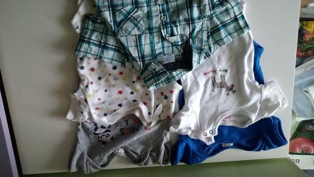 Ubranka na chłopca różne rozmiar 68