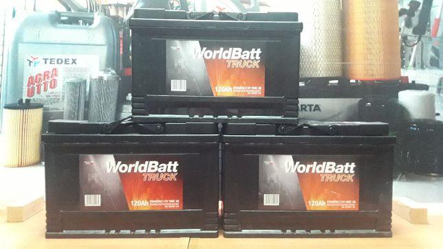 Akumulator 12V 120Ah 900A WorldBatt C330 C360 T25 2812