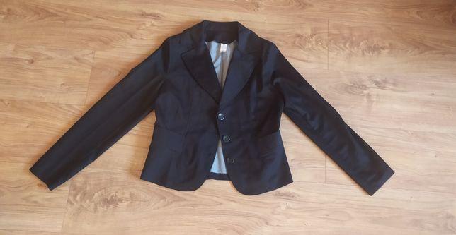 Żakiet marynarka czarna elegancka xs
