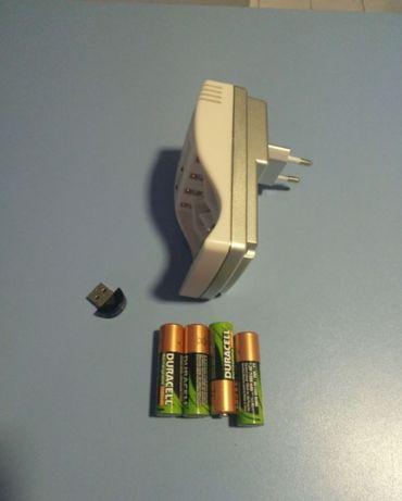 Зарядное, батарейки, блютуз