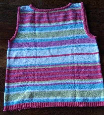 Pulover 7/8 anos malha algodão colorido